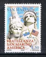 REPUBBLICA DI SAN MARINO 2008 ANNIVERSARIO DELLA COSTITUZIONE FRATELLANZA SAN MARINO AMERICA MNH **MINT SET - Neufs