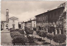 201 - CECINA LIVORNO PIAZZA GUERRAZZI E CHIESA ANIMATA 1957 - Livorno