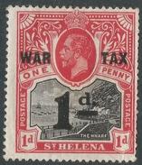 St Helena. 1919 War Tax. 1d MH. SG 88 - Saint Helena Island