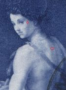 1717 - FL 40 Rp. Gemälde Mit Grosser Retusche Auf Einschreiben Nach SAN FRANCISCO (USA) - Abarten