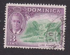 Dominica, Scott #125, Used, George VI And Scene Of Dominica, Issued 1951 - Dominique (...-1978)
