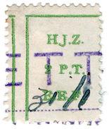 (I.B) Palestine Revenue : Hejaz Railway 2pt (inverted Watermark) - Palestine