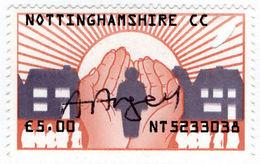 (I.B) Elizabeth II Revenue : Home Help £5.00 (Nottinghamshire) - 1952-.... (Elizabeth II)