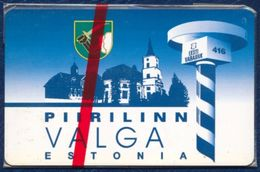 ESTONIA - ESTLAND - ESTONIE 10 UNITS CHIP PHONECARD TELEPHONE CARD PIIRILINN VALGA MINT SEALED - Estonia