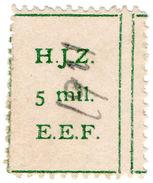 (I.B) Palestine Revenue : Hejaz Railway 5m - Palestine