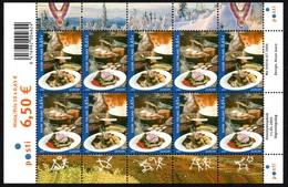 FINLAND 2005 EUROPA/Gastronomy: Sheet Of 10 Stamps UM/MNH - Blocks & Kleinbögen