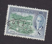 Dominica, Scott #129, Used, George VI And Scene Of Dominica, Issued 1951 - Dominique (...-1978)