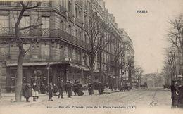 PARIS 20eme - Rue Des Pyrénées Prise De La Place Gambetta - Distretto: 20