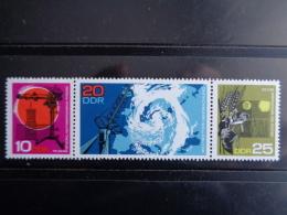 DDR 1968 - MICHEL N° 1343 à 1345 ** SE TENANT - JOURNEE DE LA METEOROLOGIE - [6] République Démocratique