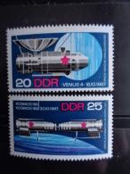 DDR 1968 - MICHEL N° 1341 & 1342 °° - VENUS 4 ET COSMOS 188 - [6] République Démocratique