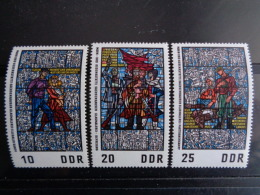 DDR 1968 - MICHEL N° 1346 à 1348 °° - MAHN UND GEDENKSTATTE SACHSENHAUSEN GLASMALEREI - [6] République Démocratique