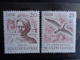 DDR 1968 - MICHEL N° 1351 & 1352 °° - MAXIM GORKI - [6] République Démocratique