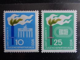 DDR 1968 - MICHEL N° 1375 & 1376 °° - II. KINDER UND JUNGENSPARTAKIADE - [6] République Démocratique