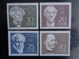 DDR 1969 - MICHEL N° 1440 à 1443 ** - PERSONNAGES DIVERS - [6] République Démocratique