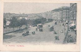 214 - NAPOLI VIA MARINA ANIMATISSIMA 1920 CIRCA - Napoli