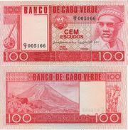 CAPE VERDE   100 Escudos     P54a   Dated 20.1.1977  UNC - Cap Verde