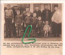 WETTEREN...1936...EEN ZEVENDE ZOON BIJ MORITS- HERREBAUT. - Alte Papiere