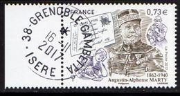France 2017.Augustin -Alphonse Marty..Cachet Rond Gomme D'orinine. - France