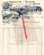 16- ANGOULEME- BELLE FACTURE GROS JOUBERT-MANUFACTURE VETEMENTS POUR HOMMES- 77 RUE PERIGUEUX- THOLOZAN CHANTELLE-1900 - Textile & Vestimentaire