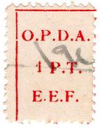 (I.B) Palestine Revenue : Ottoman Public Debt 1PT (OPDA) Inverted Watermark - Palestine