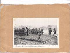 GUERRE 1914/1915 - LES TRANCHEES - Montage De Claies Pour Abri  - NANT - - Guerre 1914-18