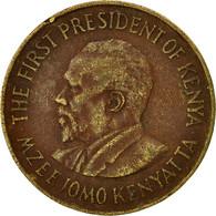 Kenya, 10 Cents, 1977, TB+, Nickel-brass, KM:11 - Kenya