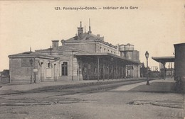 Fontenay-le-Comte - Intérieur De La Gare - Tampon Hôpital - Fontenay Le Comte