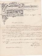 CARTA INTESTATA DELLA DITTA , GUIDO - CURTI E C. STABILIMENTO INDUSTRIALE , SAPONERIA ,OLERIA -FARINE DI COMMERCIO 1899 - Vecchi Documenti