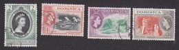 Dominica, Scott #141, 143, 145-146, Used, Elizabeth II And Scenes Of Dominica, Issued 1953-54 - Dominica (...-1978)