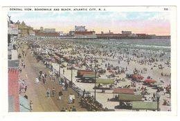Atlantic City - General View, Boardwalk And Beach - Atlantic City