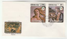 1985 BURKINA FASO FDC  Stamps  RELIGIOUS ART BOTTICELLI  Cover  Philatelic Exhibition Religion - Burkina Faso (1984-...)