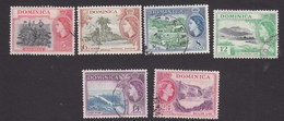 Dominica, Scott #147-152, Used, Elizabeth II And Scene Of Dominica, Issued 1954 - Dominica (...-1978)