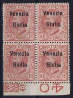 Italy: VENEZIA GIULIA   Sa 22 Postfrisch/neuf Sans Charniere /MNH/**  4-block And Sheet Margin - Venezia Giulia
