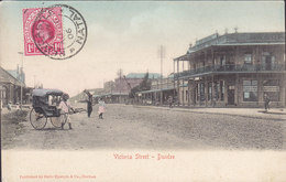 Natal PPC Victoria Street - Dundee Sallo Epstein & Co. Durban Frontside Franking NEWCASTLE Natal 1906 Simple Backside - Südafrika