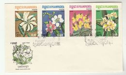 1984 KAMPUCHEA FDC Stamps FLOWERS Cover Flower Cambodia - Cambodia
