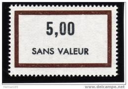FRANCE FICTIF N° F186 ** Timbre Neuf Gomme D'origine Sans Trace De Charnière - TB - Ficticios