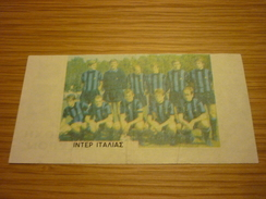 Inter Milan Italy Italian Football Team Old Greek Trading Banknote Style Card From The '70s - Sports