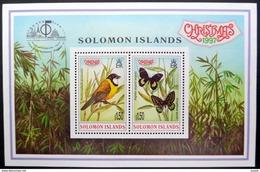 Salomon Solomon Islands 1997 Yvertn° Bloc 49 *** MNH Cote 7 Euro Faune Oiseaux Papillons Noël - Andere