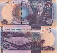 TONGA New  5   PAANGA     P45    NEW  KING   2015 - Tonga