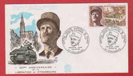 Enveloppe Premier Jour /  N 701 / 25 ème Anniversaire De La Libération De Strasbourg /  22 - 11 - 1969 - FDC