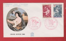 Enveloppe Premier Jour /  N 662 / Croix Rouge / Troyes /  14 - 12 - 1968 - FDC