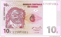 Congo - Pick 82 - 10 Centimes 1997 - Unc - Congo