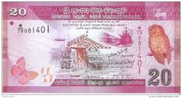 Sri Lanka - Pick 123 - 20 Rupees 2010 - Unc - Sri Lanka