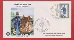 Enveloppe Premier Jour /  Journée Du Timbre / Facteur Rural De 1830 / Saverne /  16 - 03 - 1968 - FDC