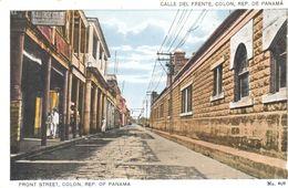 POSTAL   PANAMA  -  CALLE FRENTE COLON - Panamá