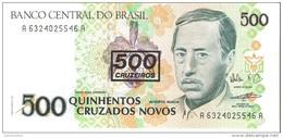 Brazil - Pick 226b - 500 Cruzados Novos = 500 Cruzeiros 1990 - Unc - Brésil