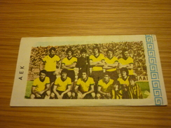 AEK Greece Football Team Old Greek Trading Banknote Style Card From The '70s - Sports