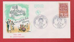 Enveloppe Premier Jour / Les Petits Lits Blancs / Paris /  26 - 10 - 1968 - FDC