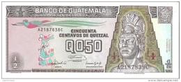 Guatemala - Pick 72b - 1/2 Quetzal 1992 - Unc - Guatemala