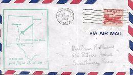 El Paso ALAMOGORDO  ALBUQUERQUE  US Air Mail First Flight  AM 29  1/09/54 - Avions